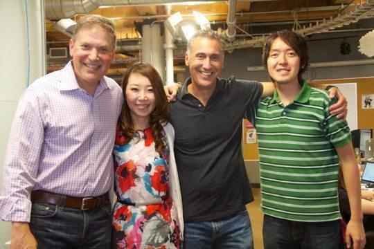 Signal CEO Mike Sands, Chinatsu Okuda, Signal CRO Marc Kiven, and Shogo Hoshii.