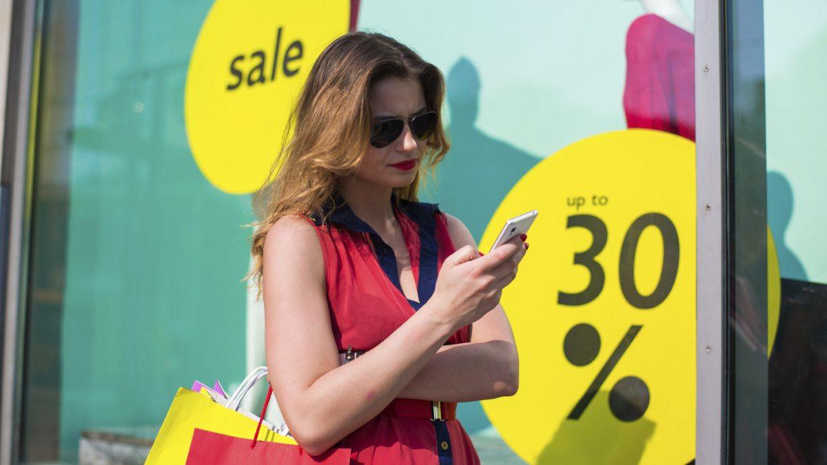 Shopper near iBeacon