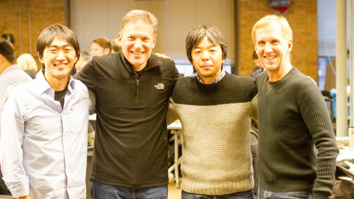 Satoshi Yamada, Signal CEO Mike Sands, Hiroyuki Nezu, and Signal Program Director Steve Cubberly