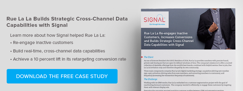Rue La La Builds Strategic Cross-Channel Data Capabilities